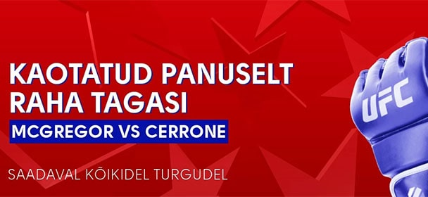 Olybet - UFC 246 McGregor vs Corrone riskivaba panustamine