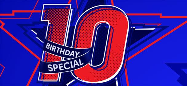 Olybet'i 10. sünnipäev – €100 kasiinoboonus või €50 raha tagasi garantii