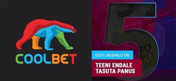 Coolbet - Eesti jalgpalli tasuta panus