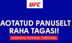 UFC 256 Olybet'is – Kaotatud panuselt raha tagasi