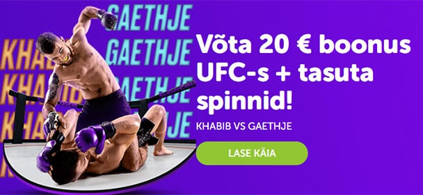 UFC 254 Khabib vs Gaethje Supercasino boonus