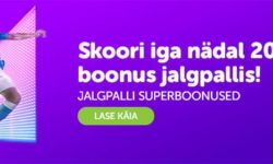 Jalgpalli boonus SuperCasino's – Novembris iga nädal €20 boonus