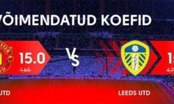 Manchester United vs Leeds United Olybet'is – Uue kliendi koefitsient 15
