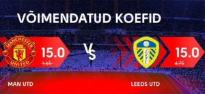 Olybet - Manchester United vs Leeds united superkoefitsient