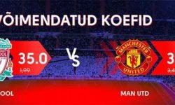 Liverpool vs Manchester United superkoefitsiendid Olybet'is