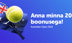 Australian Open 2021 suur tenniseboonus SuperCasino's