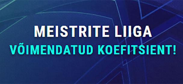 Coolbet - Meistrite Liiga uue kliendi PSG superkoefitsient