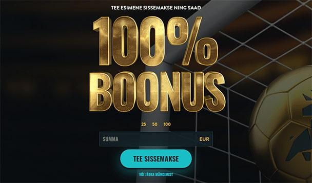 No Account bet sissemakse boonus