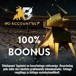 NoAccountBet Eesti tervitusboonus