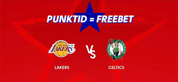 Olybet'is NBA Lakers vs Celtics punktide eest tasuta panus