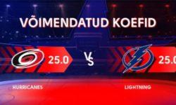 NHL'i võimendatud koefitsiendid Olybet'is – võida 3 eurose panusega €75