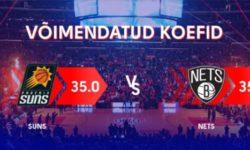 NBA Phoenix Suns vs New Jersey Nets – võida €70