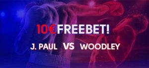 Olybet - Jake Paul vs Tyron Woodley tasuta panus