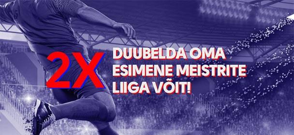 Olybet - Meistrite Liiga 2021 uue kliendi võit duublis
