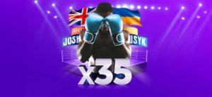 SuperCasino - Anthony Joshua vs Oleksandr Usyk superkoefitsient ja tasuta spinnid