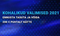 KOV 2021 valimiste tasuta ennustus – võida Coolbet'is 200 eurot sularaha